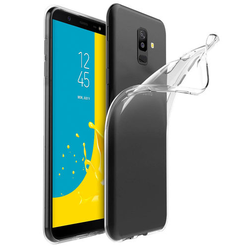 Flexi Slim Gel Case for Samsung Galaxy J8 - Clear (Gloss Grip)